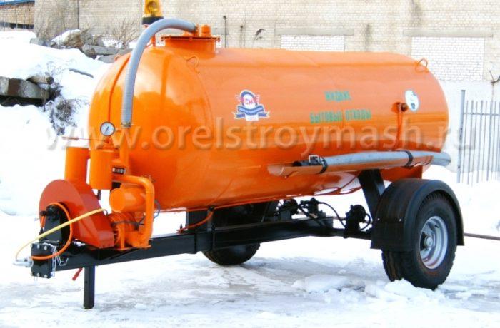 Полуприцеп тракторный МВ-4,2 (вакуумный), цистерна 4 куб. м.